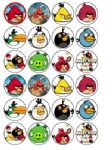 24 x Angry Birds Rice Wafer Paper Cake Bun Toppers New
